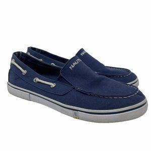 Nautica Doubloon Canvas Slip-On Navy Boat Shoes